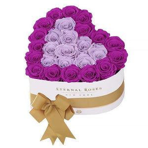 Eternal Roses® White / Mystic Orchid Serafina Mezzo Eternal Rose Gift Box - NEW