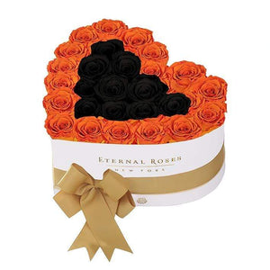 Eternal Roses® White / Pumpkin Spice Serafina Mezzo Eternal Rose Gift Box - NEW