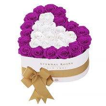 Eternal Roses® White / Frosted Orchid Serafina Mezzo Eternal Rose Gift Box - NEW