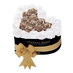 Eternal Roses® Black / Baroque Serafina Mezzo Eternal Rose Gift Box - NEW