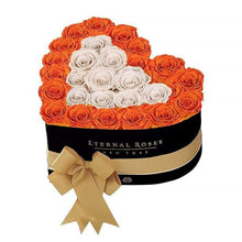 Eternal Roses® Black / Sunset Serafina Mezzo Eternal Rose Gift Box - NEW