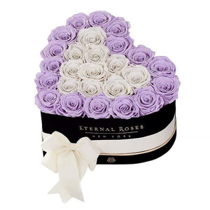 Eternal Roses® Black / Lilac Serafina Mezzo Eternal Rose Gift Box - NEW