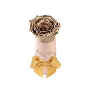 Eternal Roses® Single Rose Gift Shimmery Pink / Gold Shimmery Liberty Eternal Rose Gift Box for BFCM