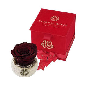 Eternal Roses® Wineberry Soho Classic Red Velvet Gift Box - Cute Valentine's Day Gifts