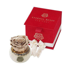 Eternal Roses® Gold Soho Classic Red Velvet Gift Box - Cute Valentine's Day Gifts