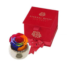 Eternal Roses® Rainbow Soho Classic Red Velvet Gift Box - Cute Valentine's Day Gifts