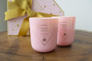 Eternal Roses® Soy Candles in Blush Blooms 2pc/box with FREE snuffer
