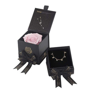Eternal Roses® Blush Taurus Box & Necklace Bundle