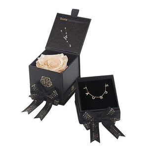 Eternal Roses® Taurus Box & Necklace Bundle