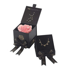 Eternal Roses® Amarylis Virgo Astor Box & Necklace Bundle