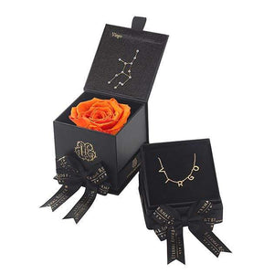 Eternal Roses® Sunset Virgo Astor Box & Necklace Bundle