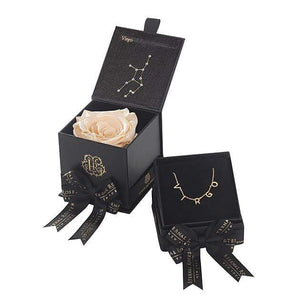 Eternal Roses® Virgo Astor Box & Necklace Bundle