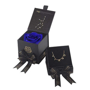 Eternal Roses® Azzure Virgo Astor Box & Necklace Bundle