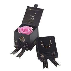 Eternal Roses® Primrose Virgo Astor Box & Necklace Bundle