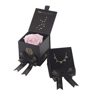 Eternal Roses® Blush Virgo Astor Box & Necklace Bundle