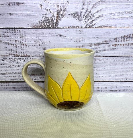 "Sue's Mug -  Yellow Sunflower ""Faith"""