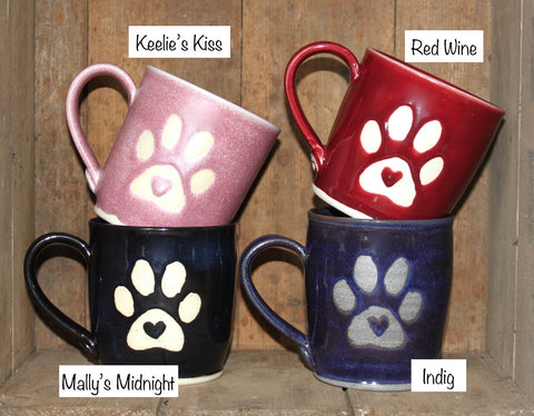 Paw Print on My Heart Mug