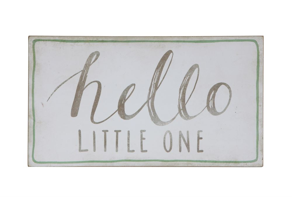 HELLO LITTLE ONE Baby Wall Decor Sign