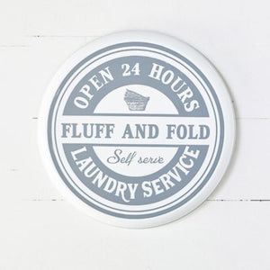 Round Laundry Sign 14""