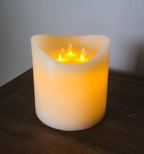 3 Wick LED Candle