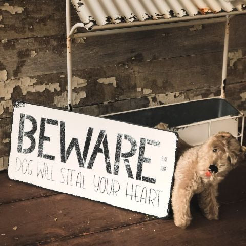 Beware Dog Will Steal Your Heart Sign
