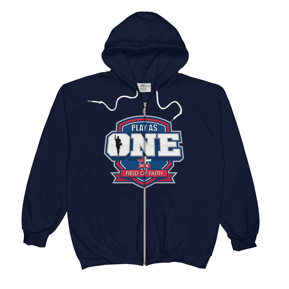 Basketball Field of Faith Unisex  Zip Hoodie