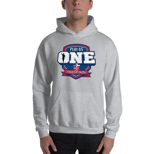 Football Field of Faith Hooded Sweatshirt