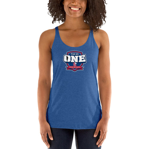 Football Field of Faith Women's Racerback Tank