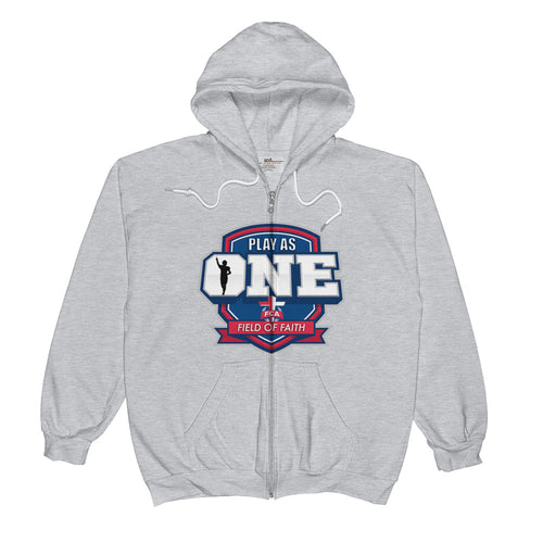 Football Field of Faith Unisex  Zip Hoodie