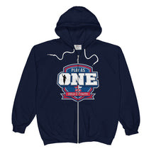 Load image into Gallery viewer, Football Field of Faith Unisex  Zip Hoodie