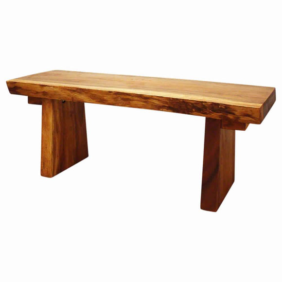HAUSSMANN Natural Edge Bench Sust Wd 48 x 17-20 x 18 inch Ht KD w Livos Eco Frndly Oak Oil
