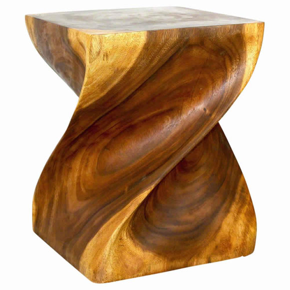 HAUSSMANN Big Twist Sustainable Wood 16 x 16 x 20 in H w Livos Eco Friendly Walnut Oil Fin