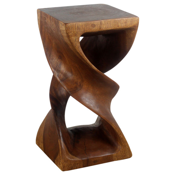 Haussmann® Wood Double Twist Stool Table 12 in SQ x 23 in H Walnut Oil
