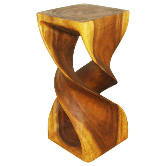 HAUSSMANN DTS1430-L-Oak Large Double Twist End Table, Oak