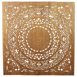Haussmann Lotus Wall Panel 48 x 48 in H-3D Eco Recycled Teak Natural Wax