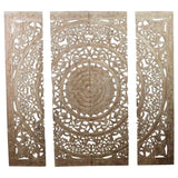 Haussmann® Teak Lotus Panel 48 x 48 inches H-3D  Sand Washed