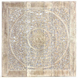 Haussmann® Teak Lotus Panel Inlay 36 in x 36 in Sand Washed - Haussmann Inc