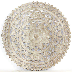 Haussmann® Lotus Round Sand Washed Wall Panel, 24""
