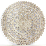 Haussmann Lotus Round Sand Washed Wall Panel, 24""