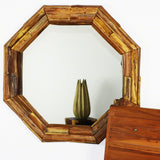 Haussmann® Mirror NE Teak Octagon Branch 34 in (26 x 26) Tung Oil