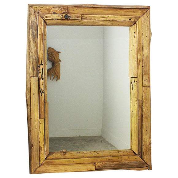 Haussmann® Mirror NE Teak Branch 25 x 32 in RECT (17 x 25) Tung OIl