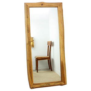 Haussmann® Mirror NE recycled Teak Rectangle 22 in x 48 in H (16 x 41) Oak Oil