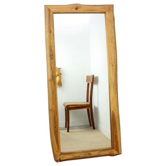 Haussmann® Mirror NE Teak Rectangle 22 x 48 in H (16 x 41) Oak - Haussmann Inc