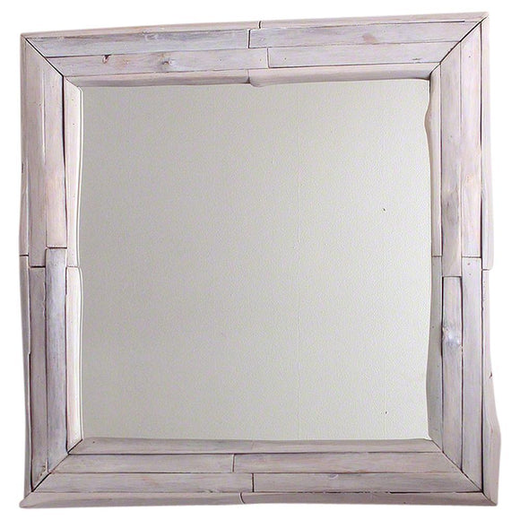 Haussmann® Mirror NE Teak Branch 30 in SQ (21 x 21) Agate Grey