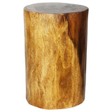 Haussmann® Eco Wood Stump Stool 11-14 inch Dia x 18 inch High Walnut Oil