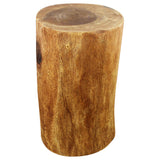 Haussmann® Eco Wood Stump Stool 11-14 inch Dia x 22 inch High Walnut Oil