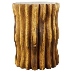 Haussmann® Wood Stump End Table Mangrove Root 15 in Dx 20 in H Oak Oil - Haussmann Inc