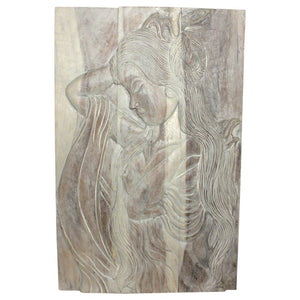 Haussmann® Wood Phuying (Woman) 24 x 36 in H Agate Grey