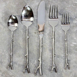 Haussmann® Stainless Steel Branch Flatware 5 PC Setting x 4 Place Settings - Haussmann Inc