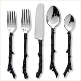 Haussmann® Stainless Steel Twig Flatware 5 Pc Set x 4 Place Settings - Haussmann Inc